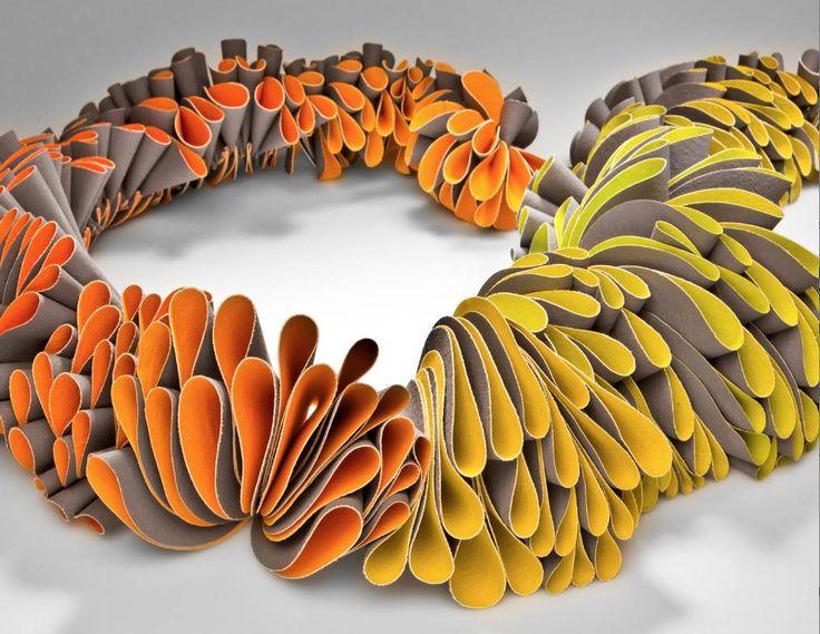 """Blossom Neckpiece by Mariana Acosta Contreras  """" Showcase 500 Art Necklaces"""" book"""
