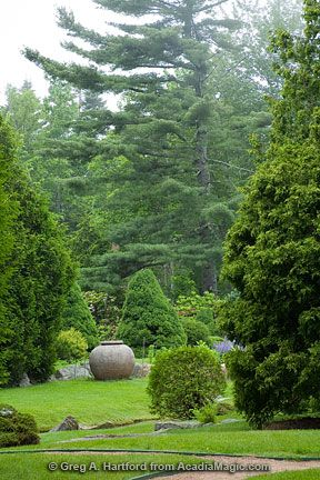 Thuya Garden, Northeast Harbor, Maine - layers