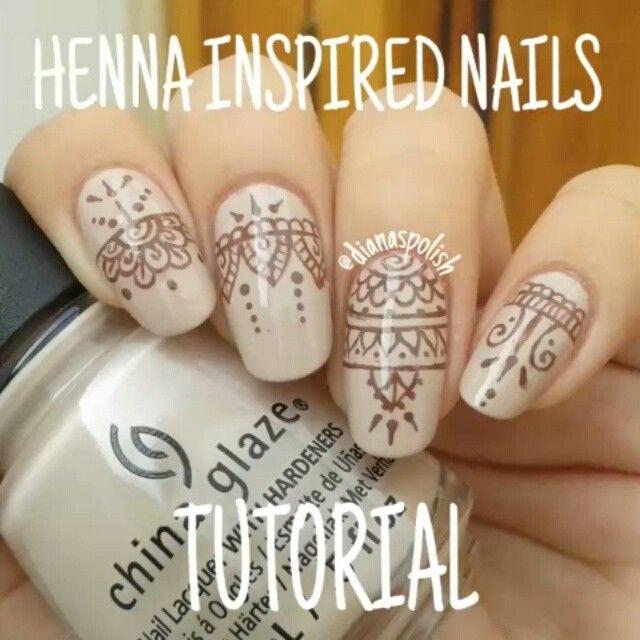 Glory Mehndi For Nails : B�sta henna nails id�erna p� pinterest naglar