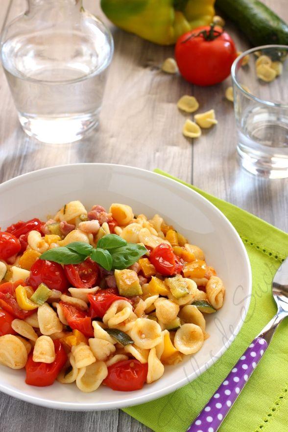 Orecchiette verdure e pancetta