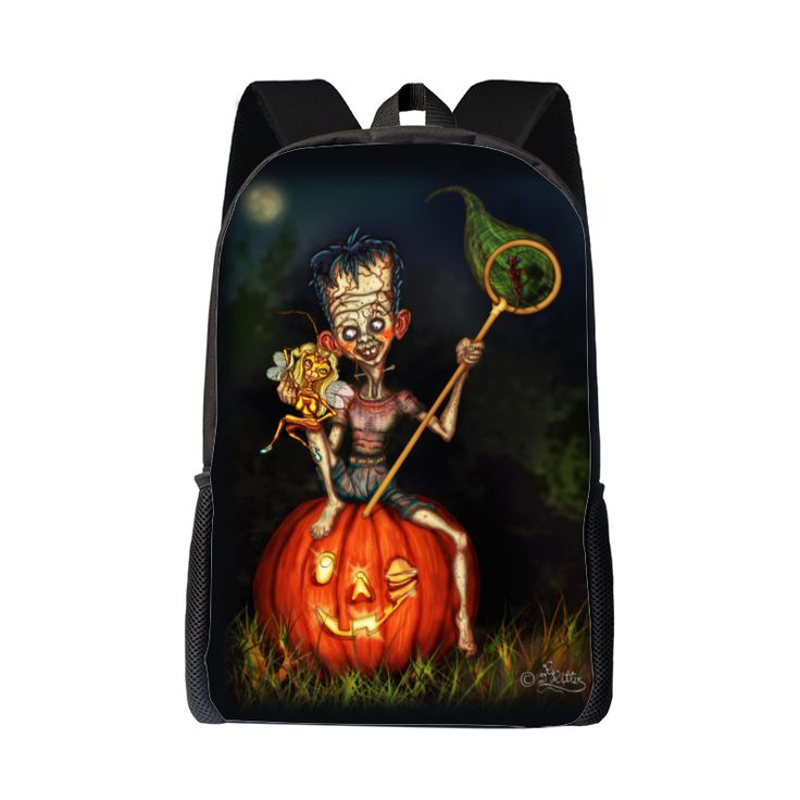 #Frankenstein - Junior!  A #backpack for #Halloween or for everyone, for whom Halloween is on every day of the year!