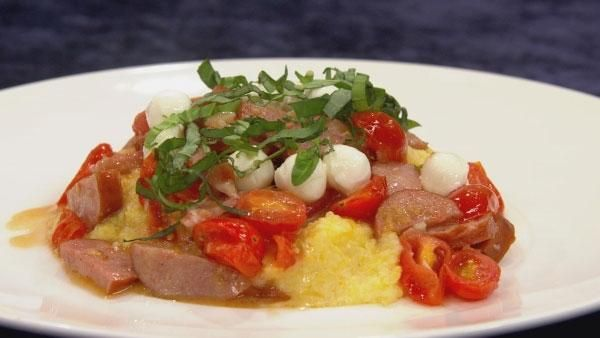 "Polenta with Spicy Sausage (from ""Let's Dish"" TV show)"