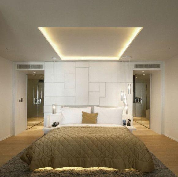 Indirekte Beleuchtung Im Schlafzimmer Luxusschlafzimmer Wohnung