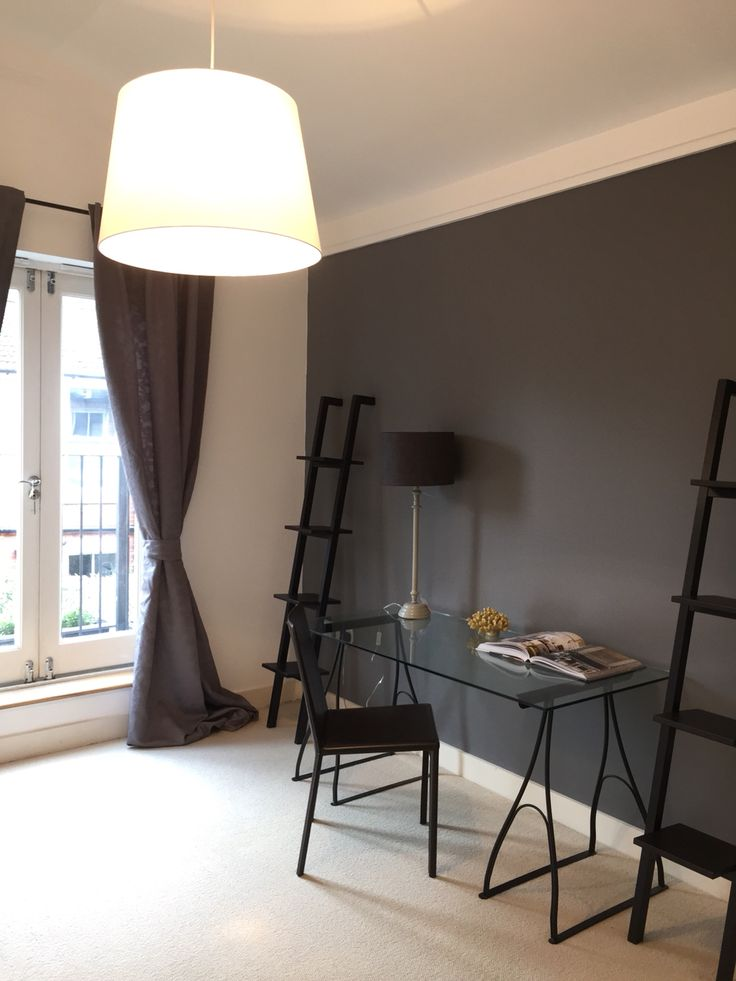 #farrowandball #molesbreath grey wall at own project in Fulham flat, by www.seasonsincolour.com #homedecor #interiors