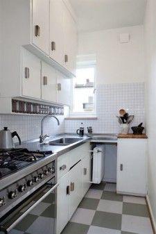 Restored 1930's kitchen in Ribershus, Malmö, Sweden