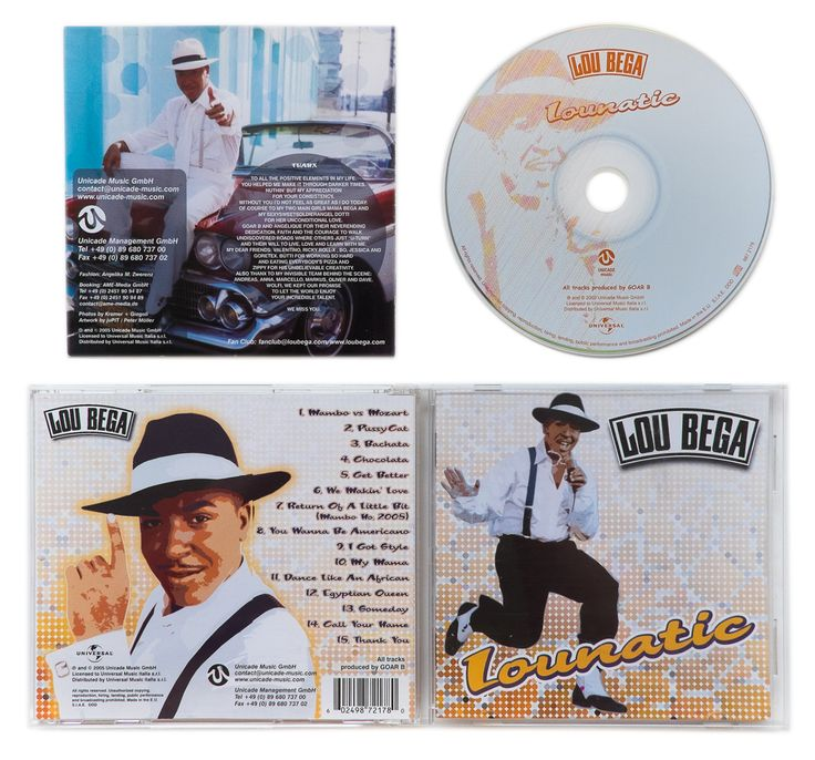 Lou Bega, artwork, Lounatic, CD, album... | Peter Möller