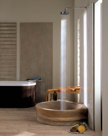 2 - Fusion bathroom fixtures are carved from natural stone, and are part of the luxury bathroom collection by IL Marmo...oh ,my, my, my, my....