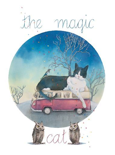 "Check out my art piece ""The Magic Cat"" on crated.com"