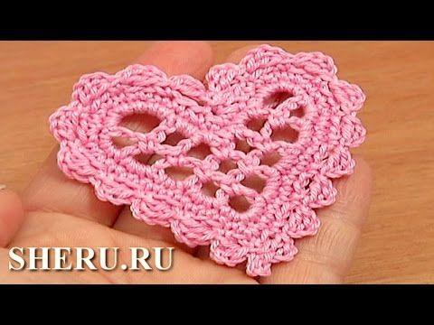 Сердечко вязаное крючком Урок 11 Элемент крючком - YouTube