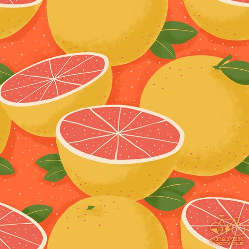 grapefruit... for the kitchen?Kitchens, Textiles Fruit, Orange Grapefruit, Pattern Paper, Grapefruit Colors, Lemon Drawing, Tarts Breakfast, Grapefruit Pattern, Design