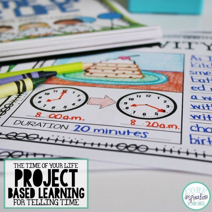 Telling Time Project. Enrich your telling time unit with this project based learning resource - The Time Of Your Life. Includes a D.I.Y. Project Guide so students can complete their project independently.