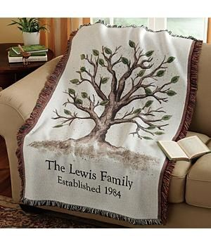 50th anniversary personalized throw. Lots more ideas http://www.anniversary-gifts-by-year.com/gifts-for-50th-wedding-anniversary.html