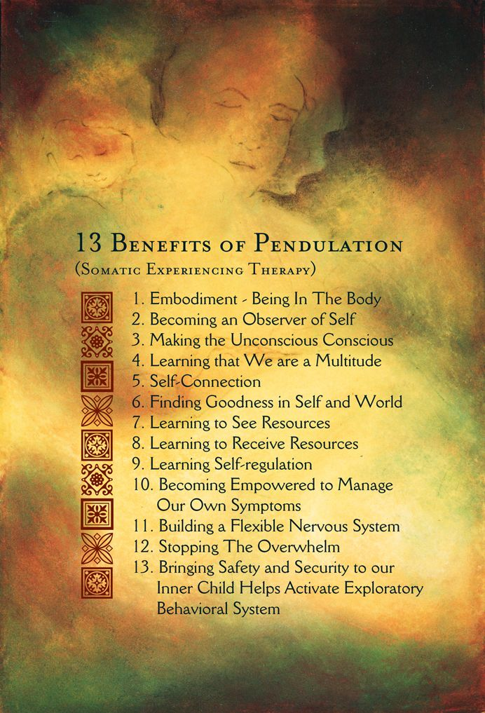 Pendulation 13 Benefits - Somatic Experiencing Therapy - Peter Levine