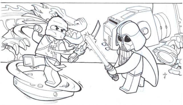 Ninjago And Star Wars Coloring Pages Barn