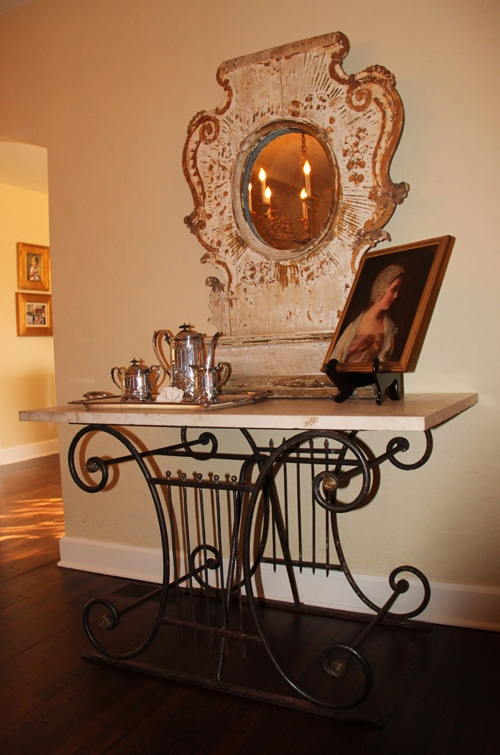 Another View Of Kristen Priceu0027s French Butcher Table (Kendallu0027s Mother).  Tiffany Farha Design
