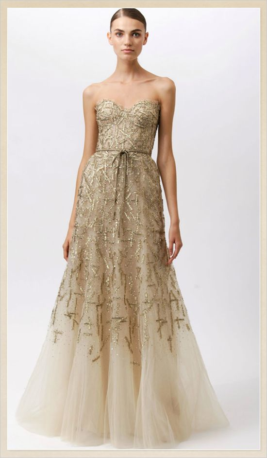 15 best wedding dresses gold champagne images on for Champagne gold wedding dress
