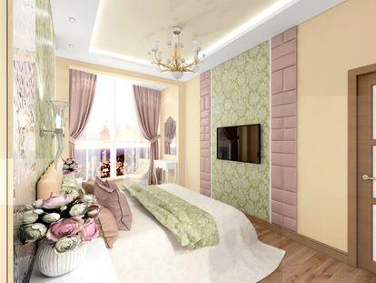 Нежная спальня для счастливой пары