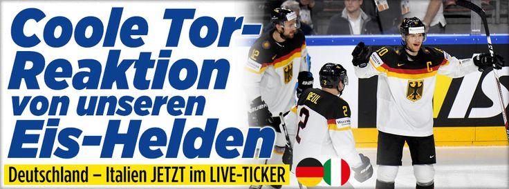 Eishockey-WM im Live-Ticker http://sport.bild.de/eishockey/eishockey-wm/ma8292483/italien_deutschland/direkter-vergleichergebnisse-und-tabelle/
