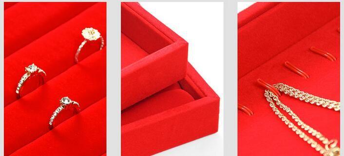 Luxury Redvelvet Jewelry Tray Jewellery Organizer Storage Box Watch Holder Necklace Ring Earr In 2020 Jewelry Organizer Storage Jewelry Packaging Jewelry Organization