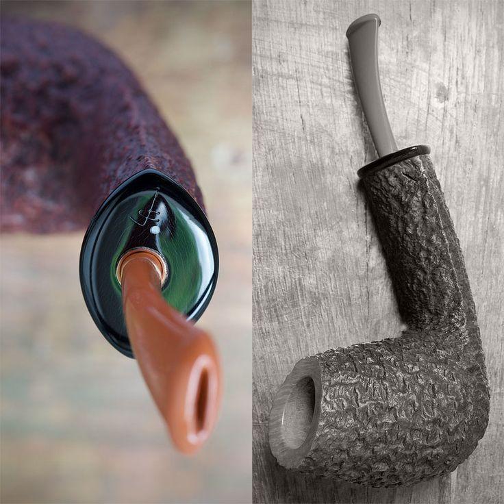 rustic-sandblasted smoking pipe