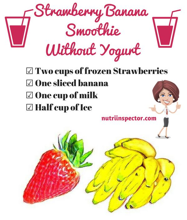 Strawberry Banana Smoothie Without Yogurt - @nutriinspector