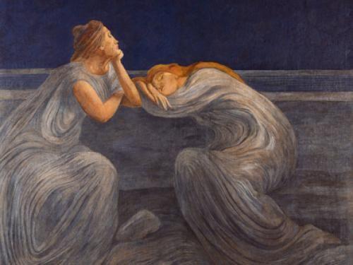 Gaetano Previati, Notturno, 1908  I pittori della luce Dal Divisionismo al Futurismo  Mart Rovereto 25 giugno 2016 / 09 ottobre 2016
