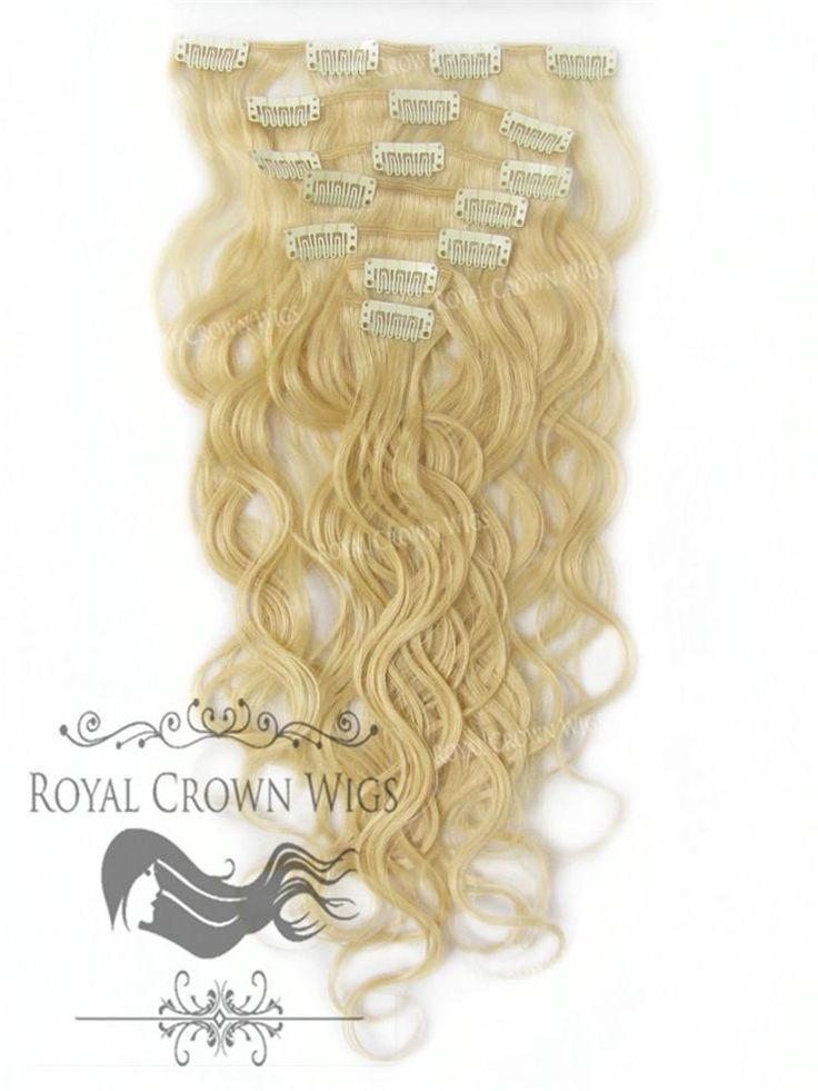 Brazilian 7 Piece Body Wave Human Hair Weft Clip-I…