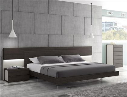 Best Maia Wenge Premium King Size Platform Bed With Built In 640 x 480