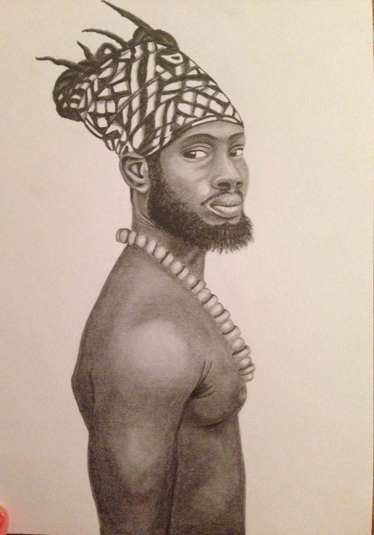 Jah -portrait drawing, dorottyaart.com