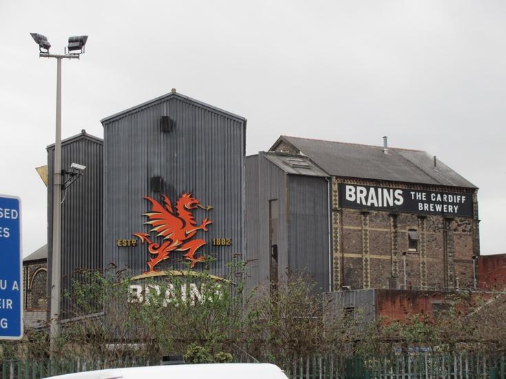 Brains Beer brewery in Cardiff, Wales