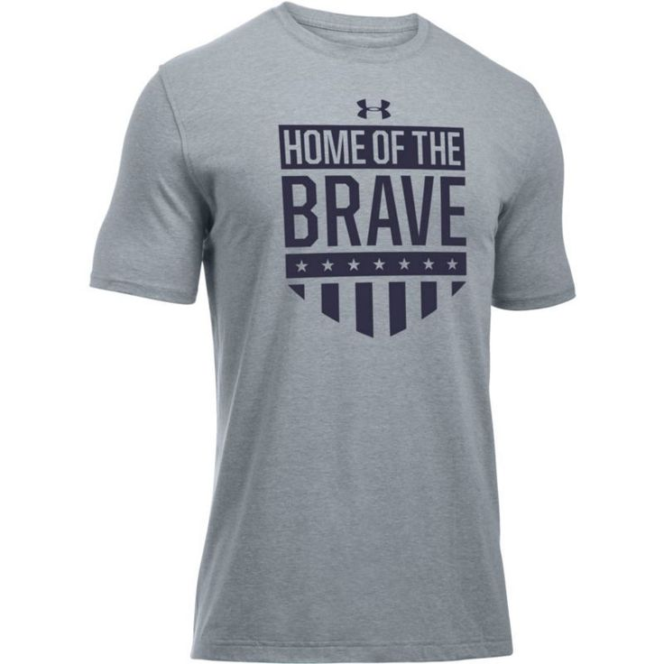 Under Armour Men's USA Home Of The Brave Graphic T-Shirt, Size: Small, Gray