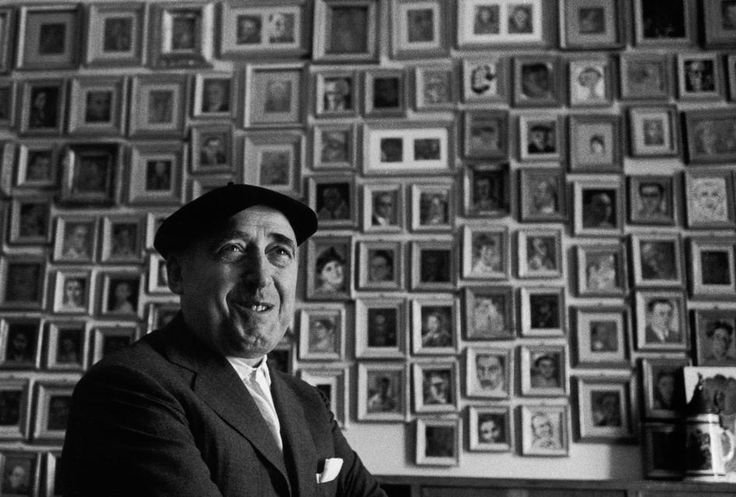 Herbert List ITALY. Rome. Cesare ZAVATTINI, Italian writer, in front of his collection of miniatures by great Italian painters at his home.