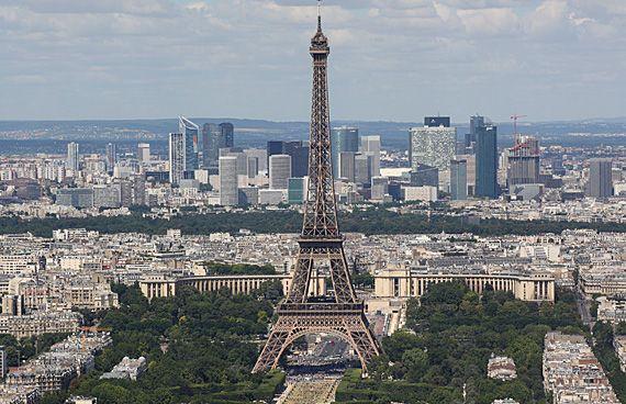 Torre Eiffel vista da Tour Montparnasse