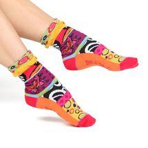 Modern women's cotton turn-over crew socks   Designed in France by Dub & Drino