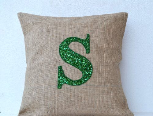 Customized Sequin Monogram Decorative Pillow Covers - Sequin Throw Pillow Covers…
