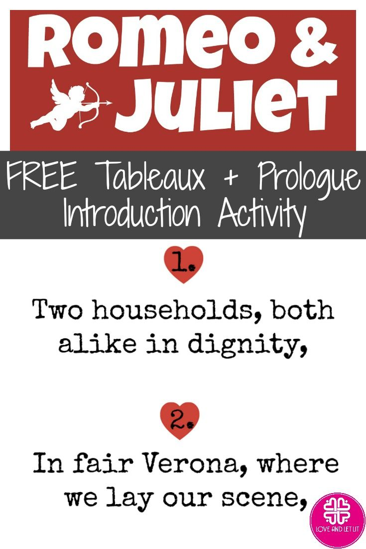 Romeo And Juliet Free Introduction With Prologue Activity Tableaux English Teaching Resource High School Literature Act 2 Meaning
