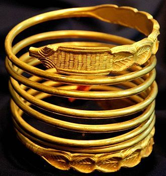 Dacian gold bracelet from Sarmizegetusa Regia; dated to the 1st century BC