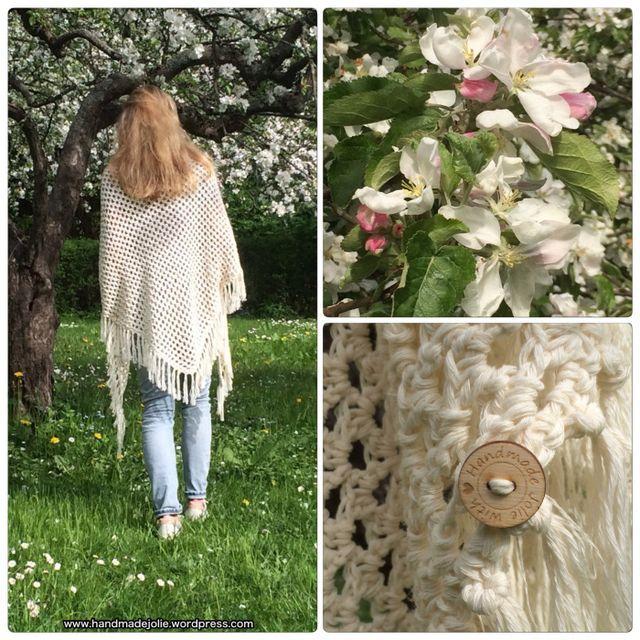 """Het patroon van deze zomerse """"boho wrap"""" vond ik op Allaboutami . Een tijdje geleden plaatste ze super mooie foto's van haar sjaal op haar site en Instagram, deze week volgde het patroon. Ik had nog r"""