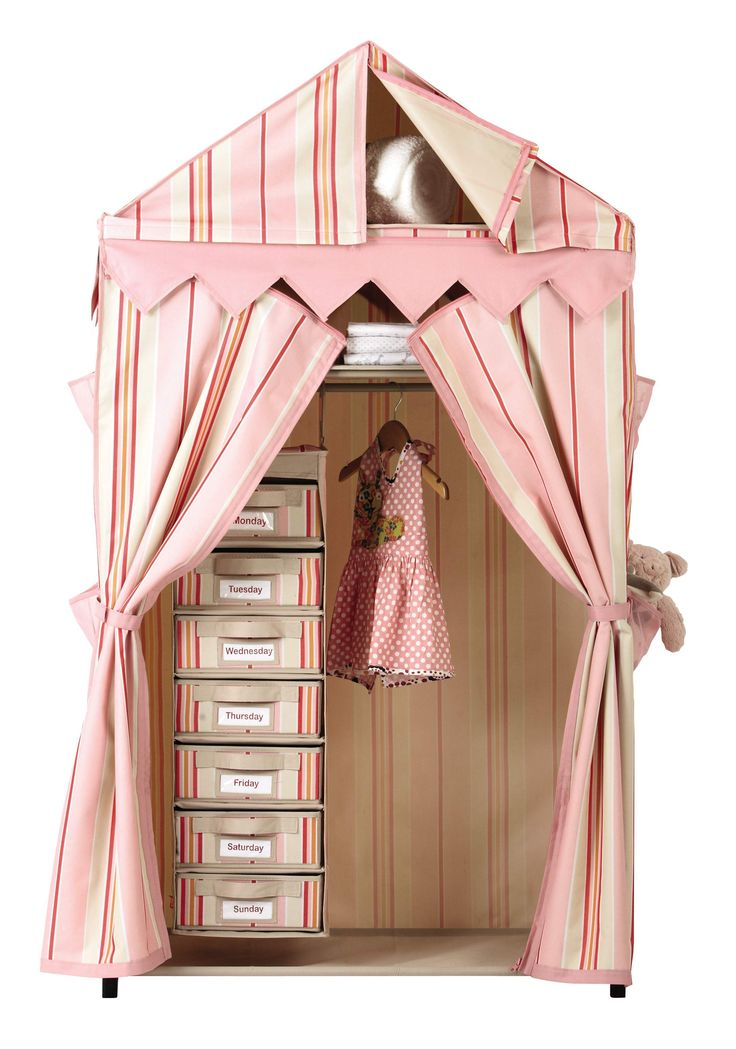 A whimsical wardrobe that welcomes clothes and big imaginations. HomeDecorators.com