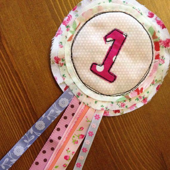 1st Girls Birthday Rosette by MilkyDashels on Etsy, £8.50