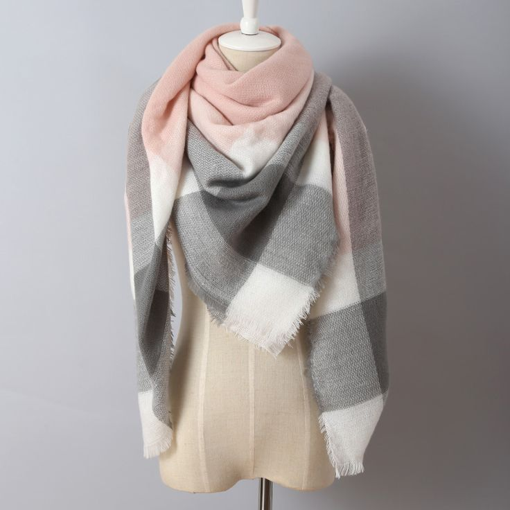2016 Brand Cashmere Design Triangle Scarf Plaid Fashion Warm in Winter Shawl For Women pashmina shawl M8062 ** Offer can be found by clicking the VISIT button