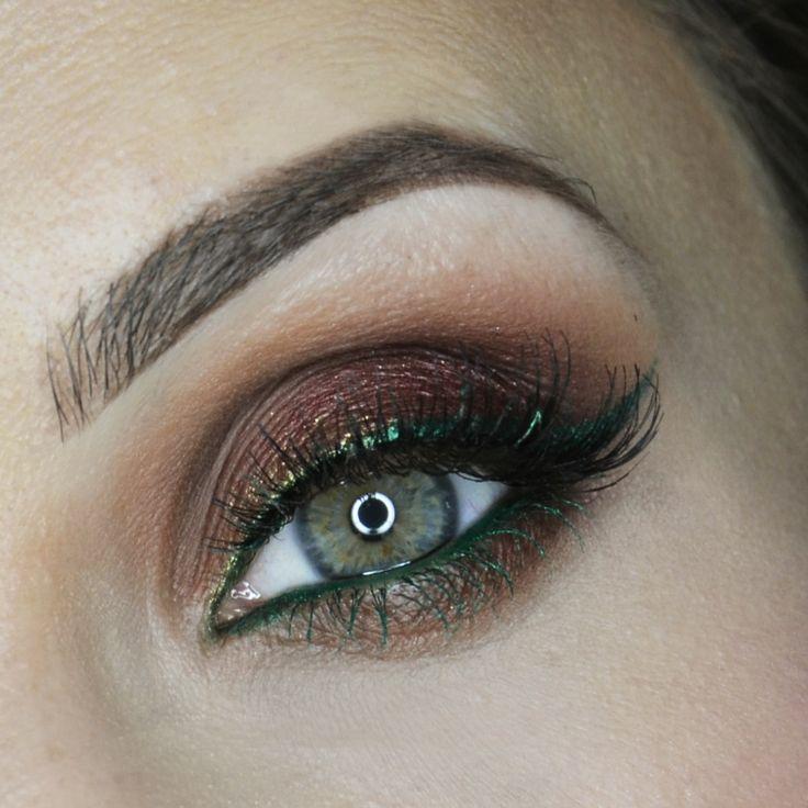 BURGUND ACCOMPANIED BY CARAMEL&green line – Idea Gallery - Makeup Geek