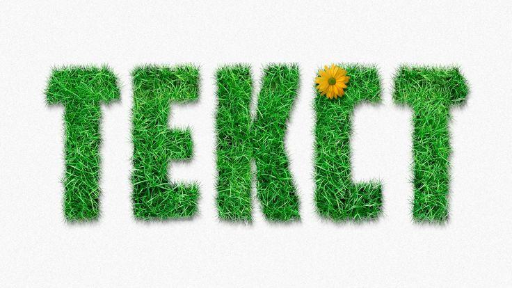 Рассмотрим как можно сделать объемный текст в фотошопе из различных текстур, таких как трава, горох и даже вермишель. Мой сайт, с подробным описанием уроков ...