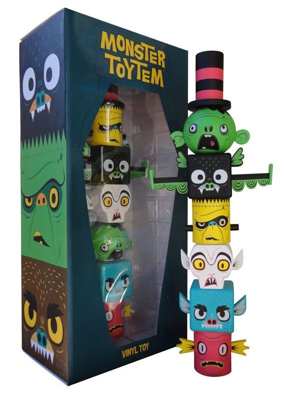 Gary Ham Monster Toytem Kidrobot Exclusive | Packaging Design: Toys  The negative of toy was moulded - toy fall into plastic shape   Size of window aids visibility and keeps everything in place  Not too much typography - unusual font is enough  colour scheme traditionally aimed at boys