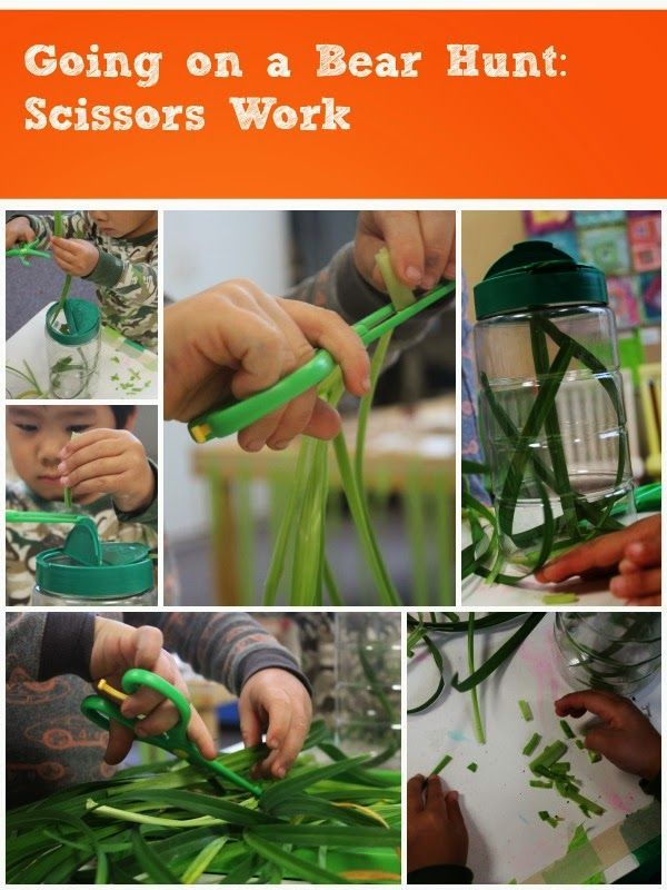 scissors work inspired by Going on a Bear Hunt