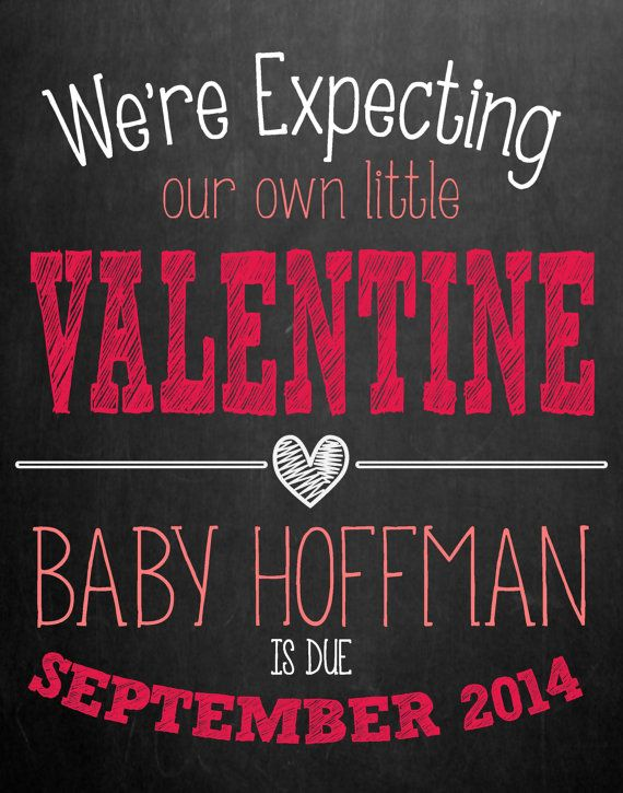 1000 images about Announcements – Valentine Birth Announcement