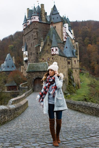Spent the last day in #Germany knocking on castle doors asking if #PrinceCharming was home. He wasn't at this one but isn't #EltzCastle BEAUTIFUL??  Head to the latest post on www.sequinsandthings.com for outfit details! Four of the main items from this outfit, including the coat, are 30% off with code FESTIVE. [Link in profile] @blonde_atlas / @iseeds | You can shop it here, as well: http://liketk.it/2pFab via @liketoknow.it #liketkit #wiw #travelgram #travelstyle #seetheworld #sequinst...