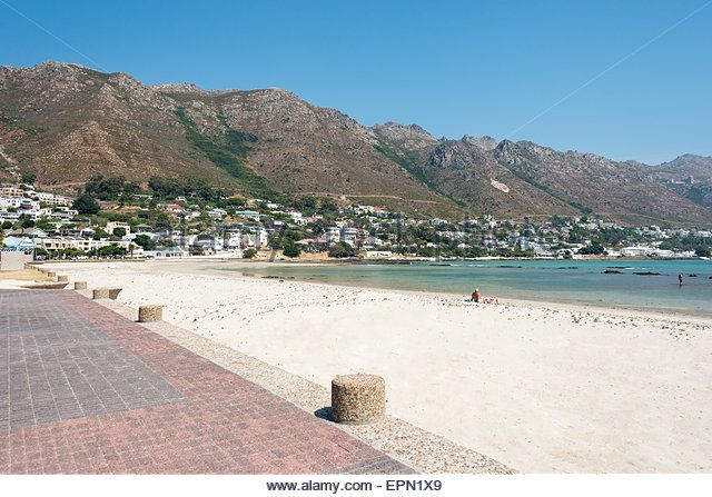Beach view, Gordon's Bay, Helderberg District, Cape Peninsula, Western Cape Province, Republic of South Africa - Stock Image