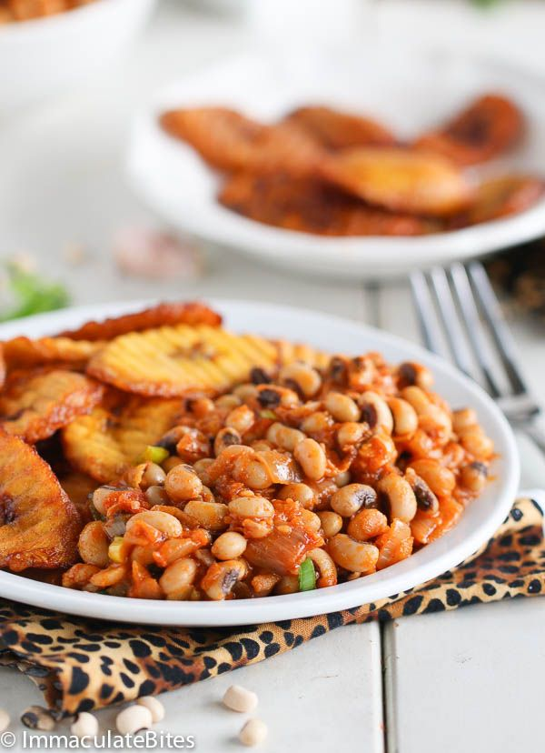Ghanian Red Red- A hearty, healthy, tasty and no fuss vegan black-eyed peas stewed beans- African Style