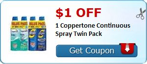 $1.00 off 1 Coppertone Continuous Spray Twin Pack